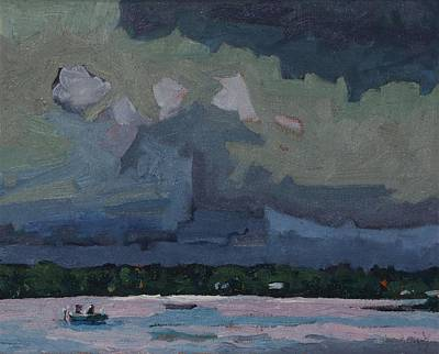 Forecaster Painting - Many Colours In The Storm by Phil Chadwick