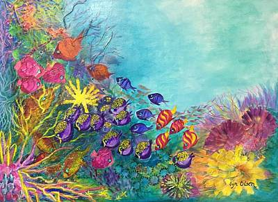 Painting - Many Colours by Lyn Olsen