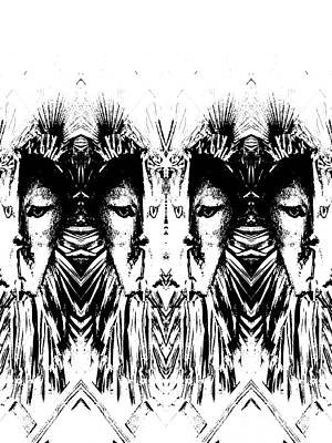 Digital Art - Many Faces  by Expressionistart studio Priscilla Batzell