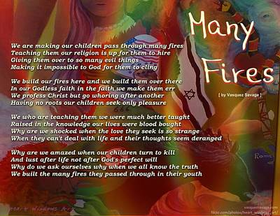 Painting - Many Fires by Kathleen Luther
