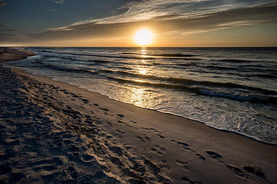 Photograph - Many Footprints On The Beach by Michael Thomas