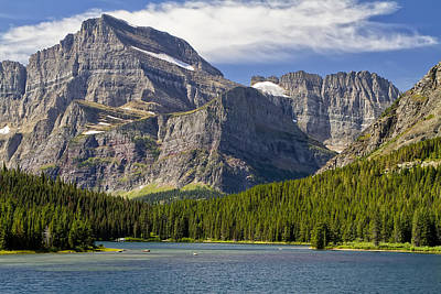 Photograph - Many Glacier, Glacier Park, Mt by Waterdancer