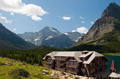 Bruce Gourley Photograph - Many Glacier Hotel by Bruce Gourley