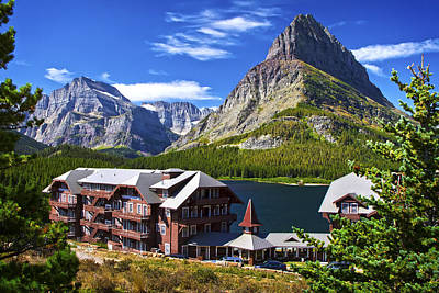 Photograph - Many Glacier Hotel by Waterdancer