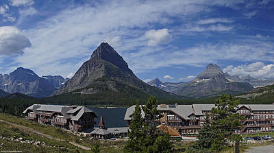 Photograph - Many Glacier Lodge Panoramic by Mick Anderson
