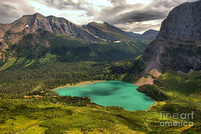 Photograph - Many Glacier Mountain Storms by Adam Jewell
