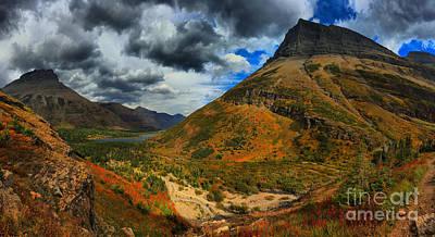 Bullheaded Photograph - Many Glacier Mountain Swirls by Adam Jewell