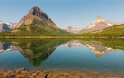 Photograph - Many Glacier Reflection by Loree Johnson