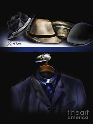 Many Hats One Collar Art Print by Reggie Duffie