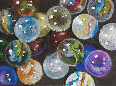 Many Marbles Art Print by Joyce Geleynse