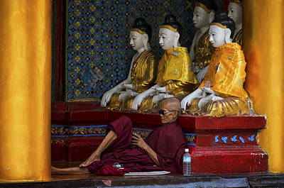 Many Myanmar Monks Art Print