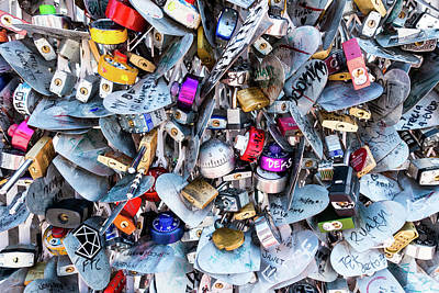 Photograph - Many Padlocks by Steven Green