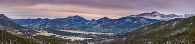Colorado Sunset Photograph - Many Parks Pano by Darren White