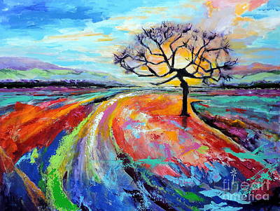 Painting - Many Paths, One Destination by Jodie Marie Anne Richardson Traugott          aka jm-ART