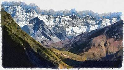 Photograph - Many Peaks In The Distance by Ashish Agarwal