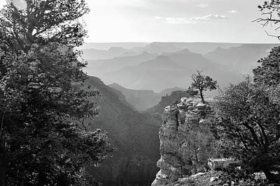 Photograph - Many Shades Of Grey - Grand Canyon Arizona - Black And White by Gregory Ballos