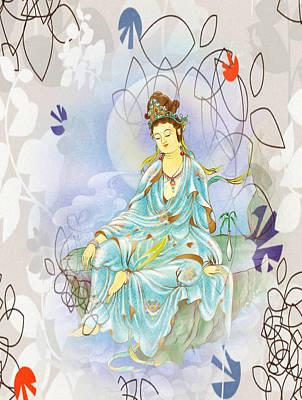 Many Treasures Kuan Yin Art Print