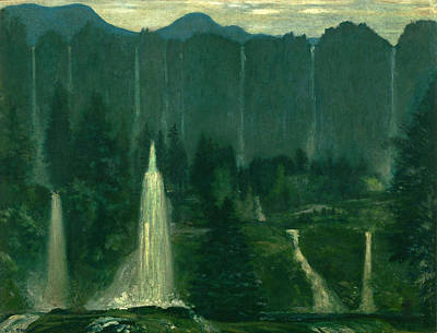 Arthur Bowen Davies Painting - Many Waters by Arthur Bowen Davies