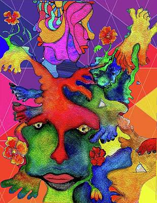 Painting - Manyfaces2 by Martin Hardy