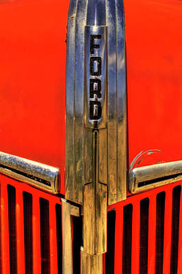 Photograph - Manzanar Fire Truck Hood And Grill Detail by Roger Passman