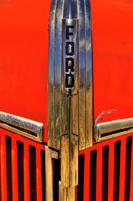 Photograph - Manzanar Fire Truck Hood And Grill Detail by Roger Passman