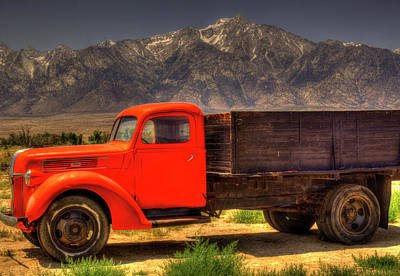 Photograph - Manzanar Food Delivery Truck And Mt. Whitney by Roger Passman