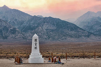Photograph - Manzanar Memorial Site by Kristia Adams