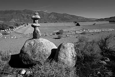 Manzanar Reservoir Water Monument Print by Rick Pisio