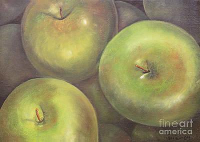 Painting - Manzanas Verdes by Sonia Flores Ruiz