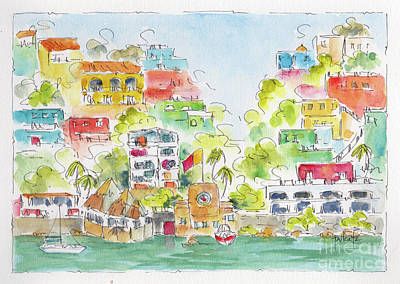 Painting - Manzanillo Coastline by Pat Katz