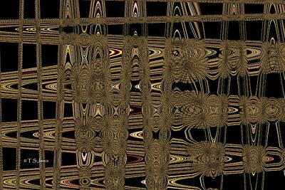 Digital Art - Manzanita Berries E-3 Abstract by Tom Janca