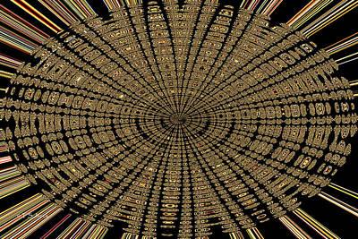 Digital Art - Manzanita Berries Oval Abstract by Tom Janca