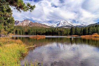 Manzanita Lake - Mount Lassen Art Print by James Eddy