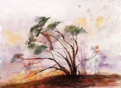 Manzanita Painting - Manzanita Tree by Kristina Vardazaryan