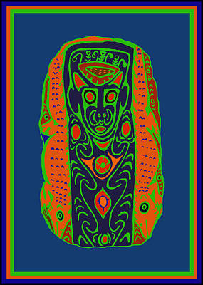 Digital Art - Maori Ancestral Spirit by Vagabond Folk Art - Virginia Vivier
