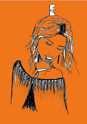 Maori Wall Art - Digital Art - Maori Girl Pt1 by Ani-Oriwia Adds
