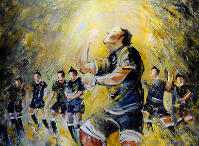 Sports Paintings - Maori Haka Again And Again by Miki De Goodaboom