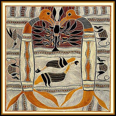 Digital Art - Maori Tribal Animal Spirits by Vagabond Folk Art - Virginia Vivier