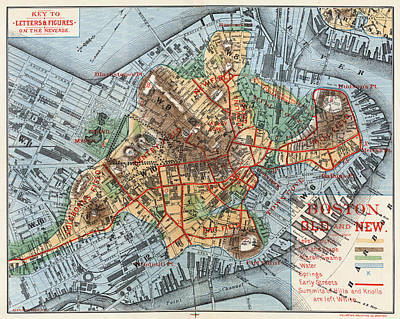Photograph - Map: Boston, C1880 by Granger