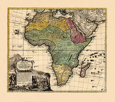 Chemical Glassware - Map Of Africa 1752 by Andrew Fare