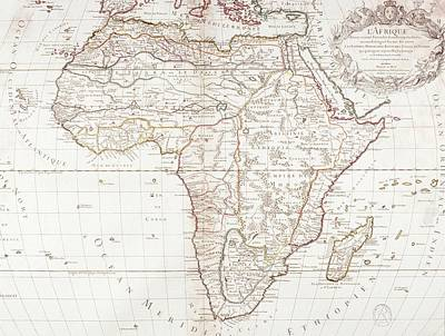 Map Of Africa Art Print by Fototeca Storica Nazionale