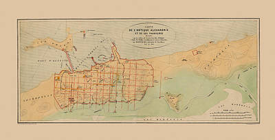 Photograph - Map Of Alexandria 1866 by Andrew Fare