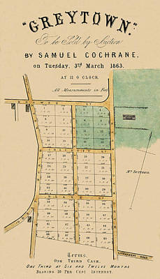 Photograph - Map Of Auckland 1863b by Andrew Fare
