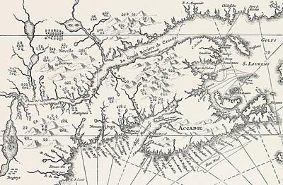 Map Of Canada And Nova Scotia Art Print