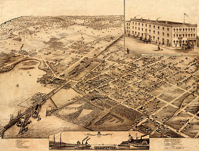 Map Of Collingwood 1875 Art Print by Andrew Fare