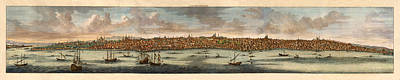 Vintage Map Photograph - Map Of Constantinople 1638 by Andrew Fare