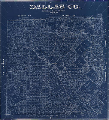 Vintage Map Photograph - Map Of Dallas 1884 by Andrew Fare