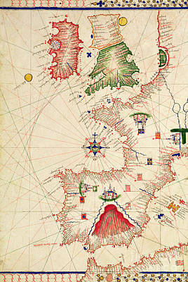 Vellum Drawing - Map Of Europe, From Carte Geografiche by Jacopo Russo