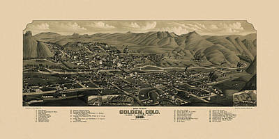 Photograph - Map Of Golden 1882 by Andrew Fare