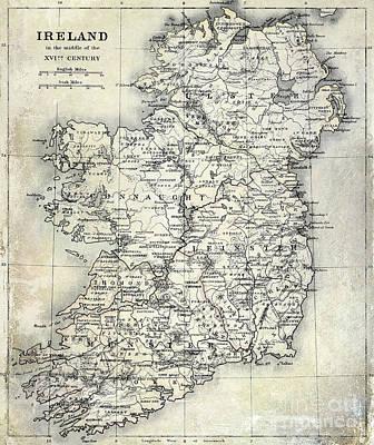 Map Of Ireland Art Print by Jon Neidert